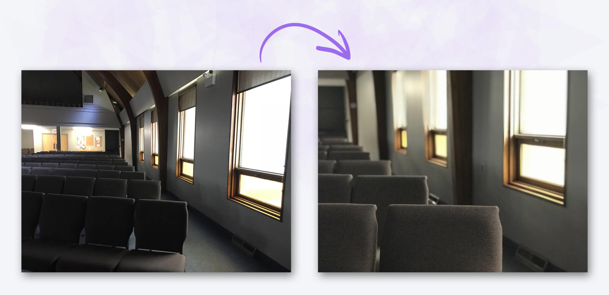 Before & After – Empty Seats Church Photos